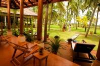 Sicht von Terrasse Deluxe Villa Nattika Beach Ayurveda Resort